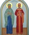 Helgonen Margareta och Katarina av Alexandria