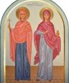 Helgonen Paraskeva och Anastasia