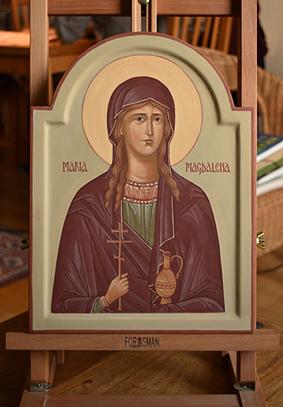 Ikon av helgonet Maria Magdalena